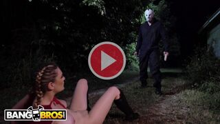 BANGBROS - Kara Lee Encounters Scary Villain in the Woods